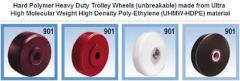 Solid uhmw heavy duty castor caster wheels