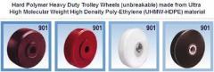 Solid uhmw heavy duty castor caster wheels