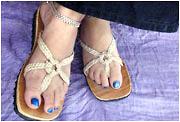 Fancy Palm Leaf Sandals