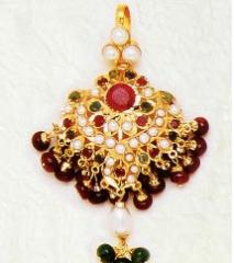 Ruby Studded Royal Jadau Pendant