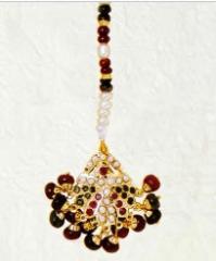Handcrafted Royal Jadau Maang Tikka