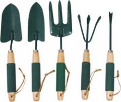 Garden hand tools with handle