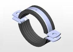 Heavy duty pipe clamp with EPDM rubber,two side