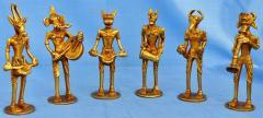 Brass figurine Musician Band-Indian Musician