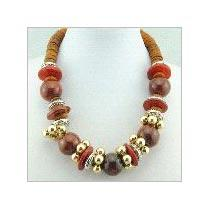 Horn Beaded Necklaces