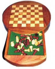 Round Magnetic Chess