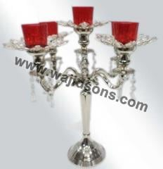 Crystal Wedding Centerpiece CandelabraL