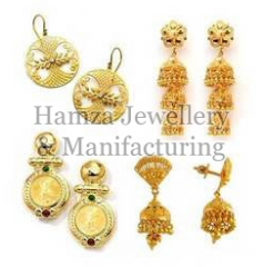 Gold Earrings 06