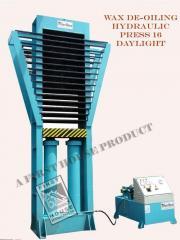 Wax De-Oiling Hydraulic Press