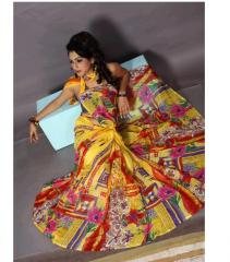 Designer Printed Wedding Saree