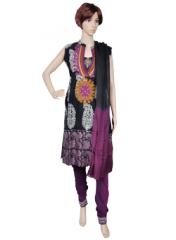 Cotton Full Suit with Applique Work