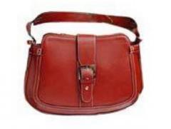 Ladies Red Leather Handbag