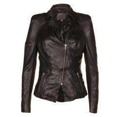 Female jackets from a natural leather