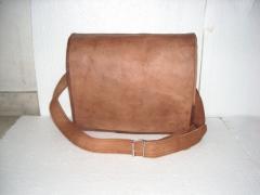 Vintage handmade goat leather full flap laptop/