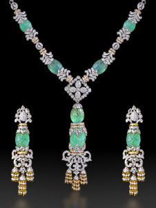 Emerald and Diamond Set