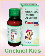 Cricknol Kids Suspension (Mefenamic acid and