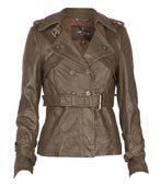 Ladies Leather Belt Jackets