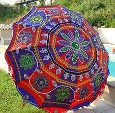 Embroidered Umbrellas