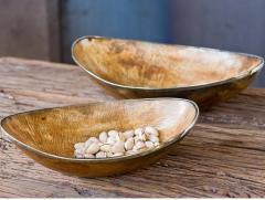 Burnished Horn Bowls