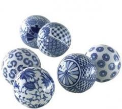 BLUE PRINTED SPHERES