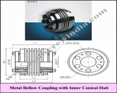 Metal Bellow Coupling With Inner Conical Hub