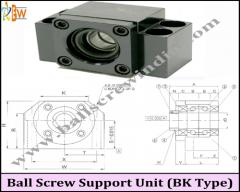 Ball Screw Support Unit ( Bk Type)