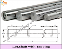 Linear Motion Shaft With Tapping