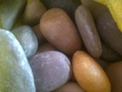 Multi color river pebbles