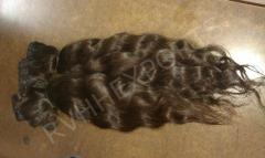 Raw indian temple hair