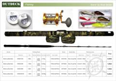 Fishing Rod + Reel + Lines + Baits + Camouflage Fishing Case delivered in India