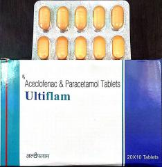 Aceclofenac with paracetamol