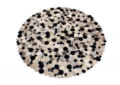 Cow hairon leather bubble carpet