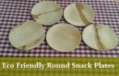 Eco Friendly Round Snack Plates