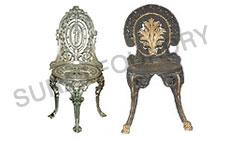 Venus/Floral Cast Iron Chairs