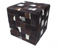 Cow hairon leather with MDF box Puff