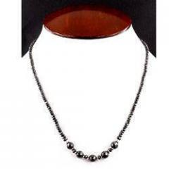 Designer Black Diamond 35ct. Bead Necklace