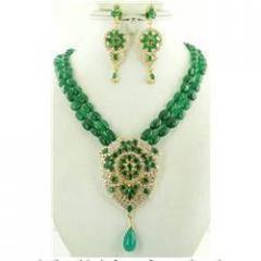 Green Quartz Gemstone Designer Handmade Necklace