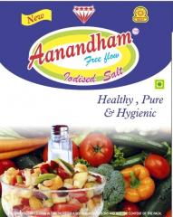 Aanandham Brand Iodised Free Flow Salt