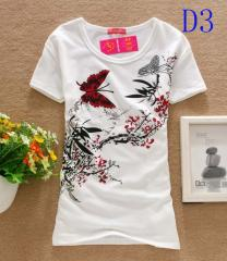 Women Butterfly Tops Round T-shirts