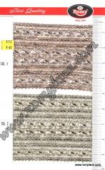 Fancy Zari Border (wide) From Romy Lace, India.