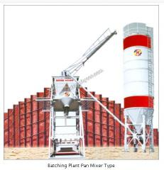 Batching Plant Pan Mixer Type