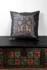 Elephant Embroidered Madurai Cushions Cover