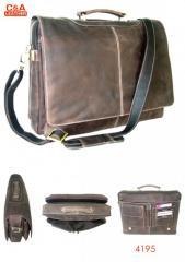 Leather laptop cum office bag 4195