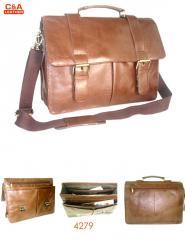 Leather laptop cum office bag 4279
