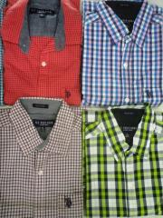 Export Surplus Branded Mens Shirts at Wholesale
