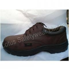Low Ankle Safety Brown Shoe