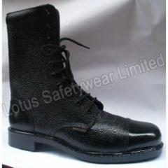 Security Boot With Rubber Sole