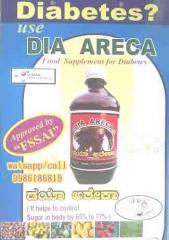 Dia Areca -Food supplement to control diabetes.