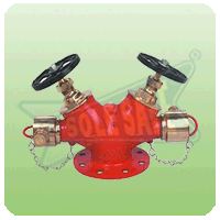 Fire Fighting Double Headed Hydrant Valve