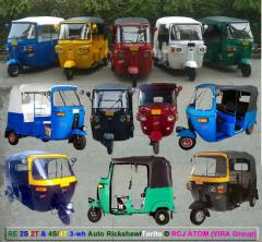 Three wheeler Auto Rickshaw RCJ ATOM Moto Taxi